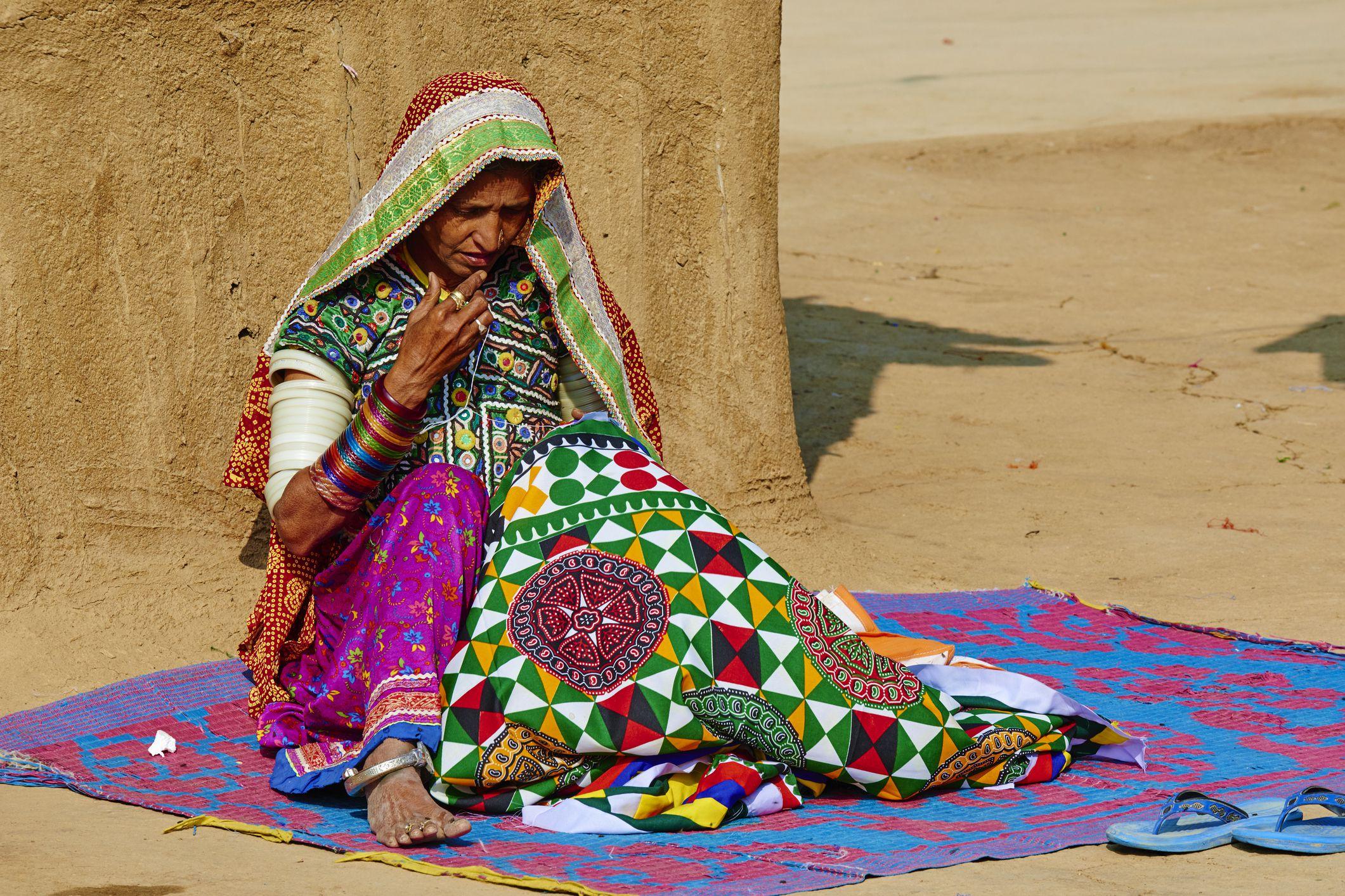 settings India, Gujarat, Kutch, Ludia village