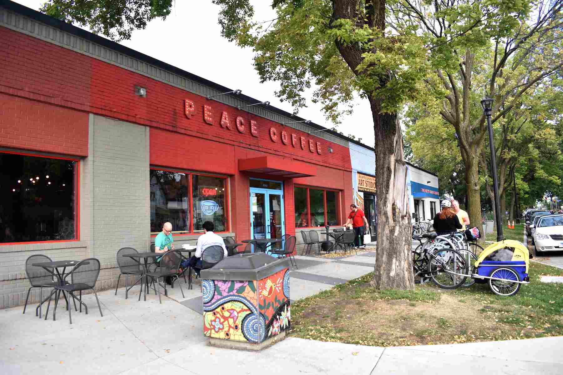 Exterior of Peace Coffee