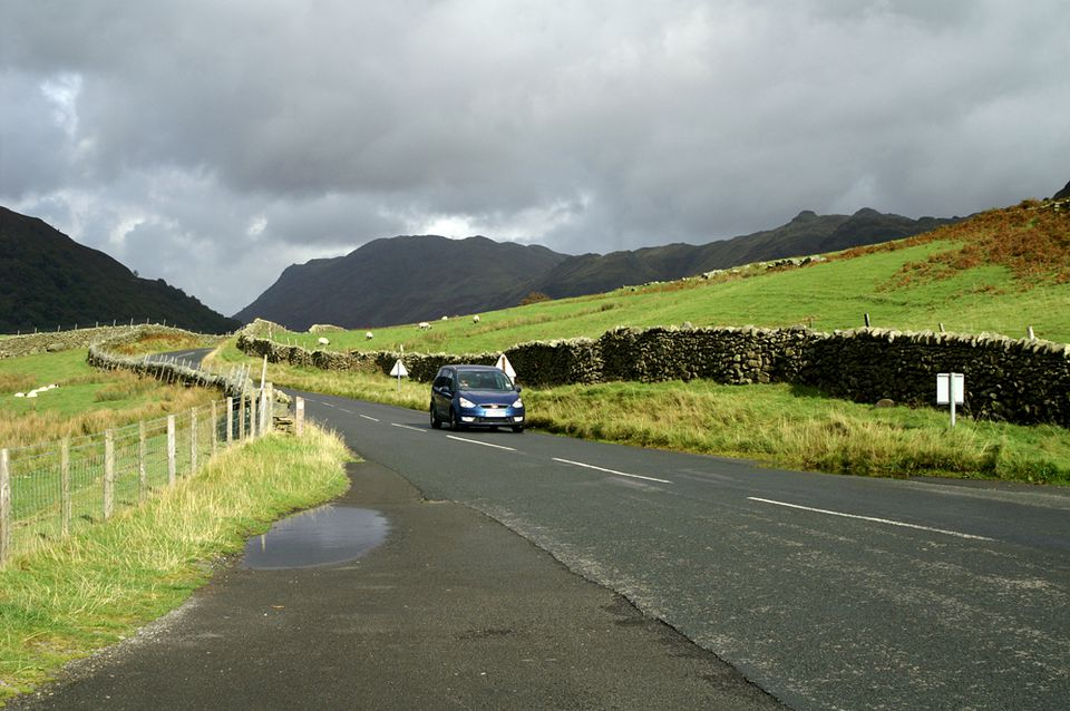 "Kirkstone Pass in the Lake District - The Roadway Called ""The Struggle"""