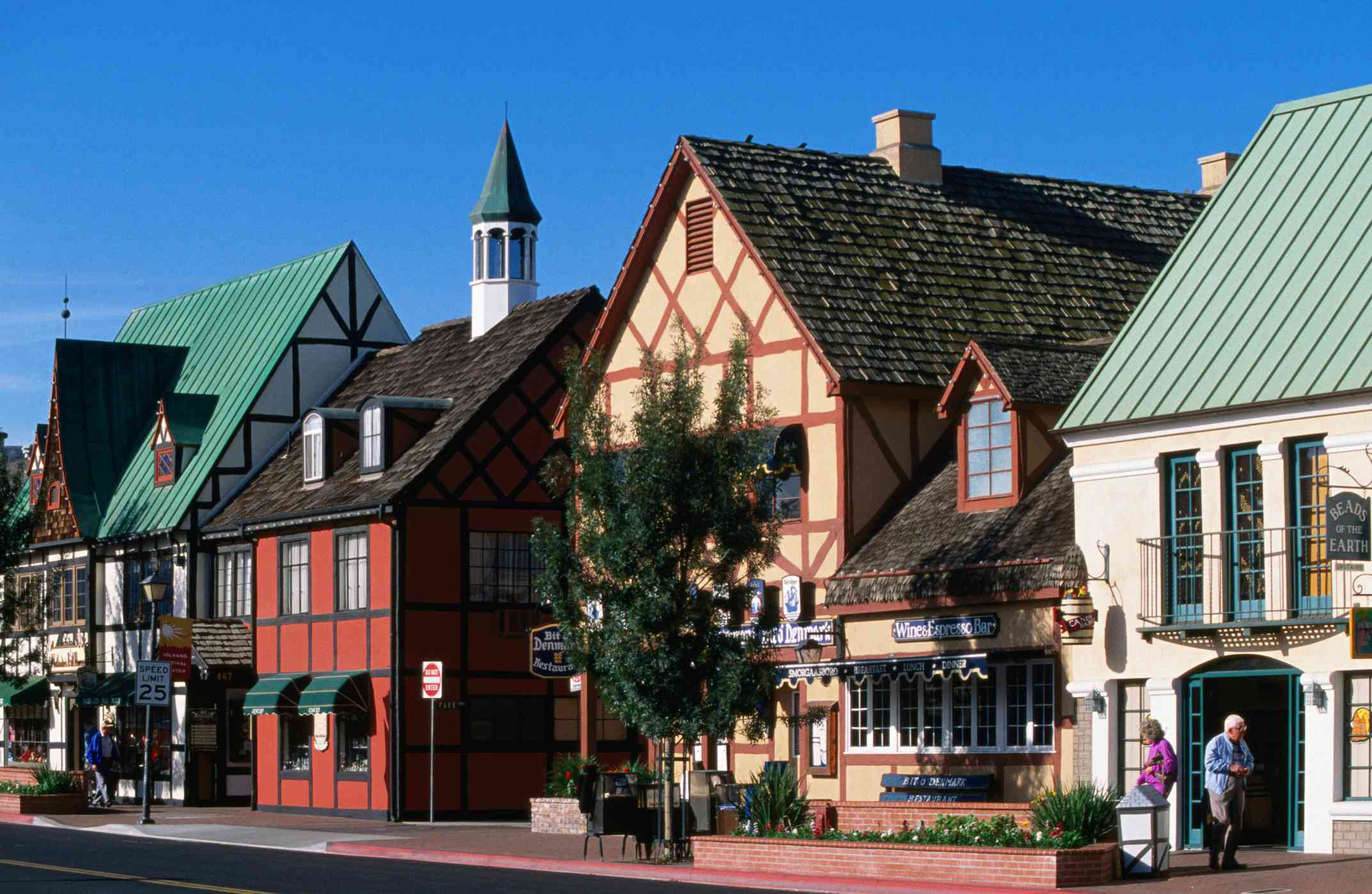 Danish style architecture. - stock photo