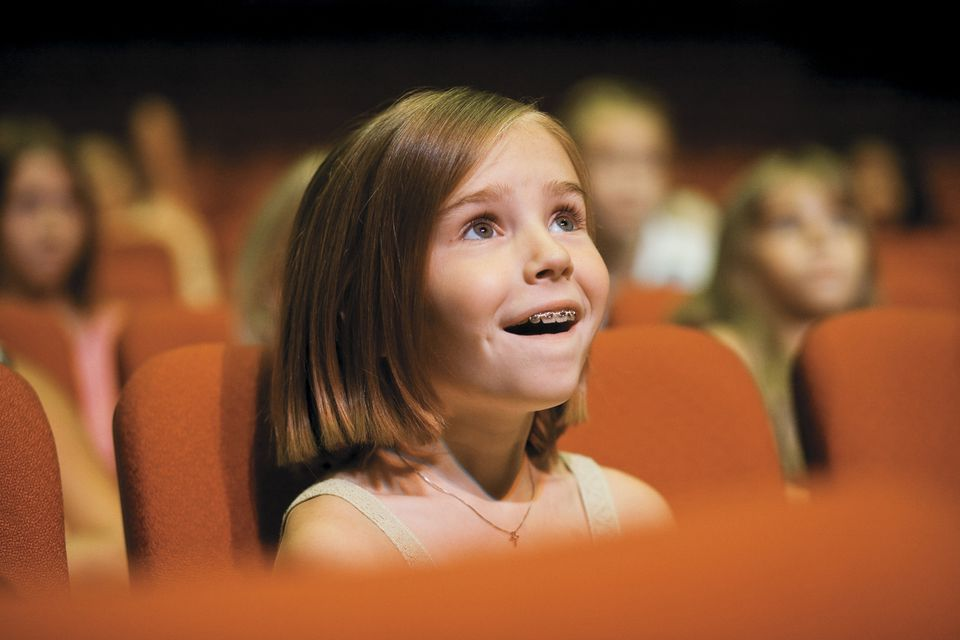 Child Watching a Movie