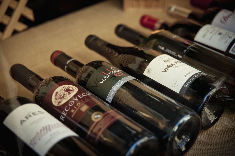 Selection Of Red Wines From La Rioja, Basque Country, Spain