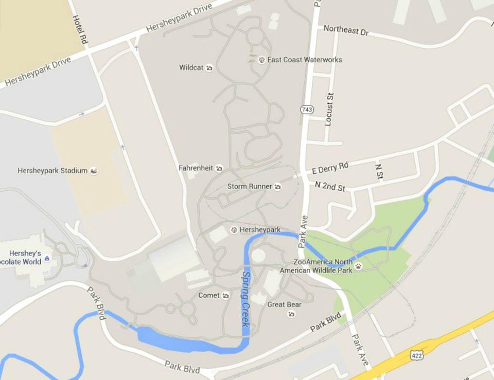 Maps of Hershey and Hersheypark, Pennsylvania  Hershey