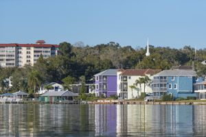 Colorful buildings of downtown Mount Dora