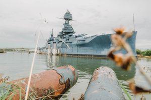 The battleship at the San Jacinto Monument