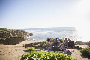 Friends in a San Diego Beach