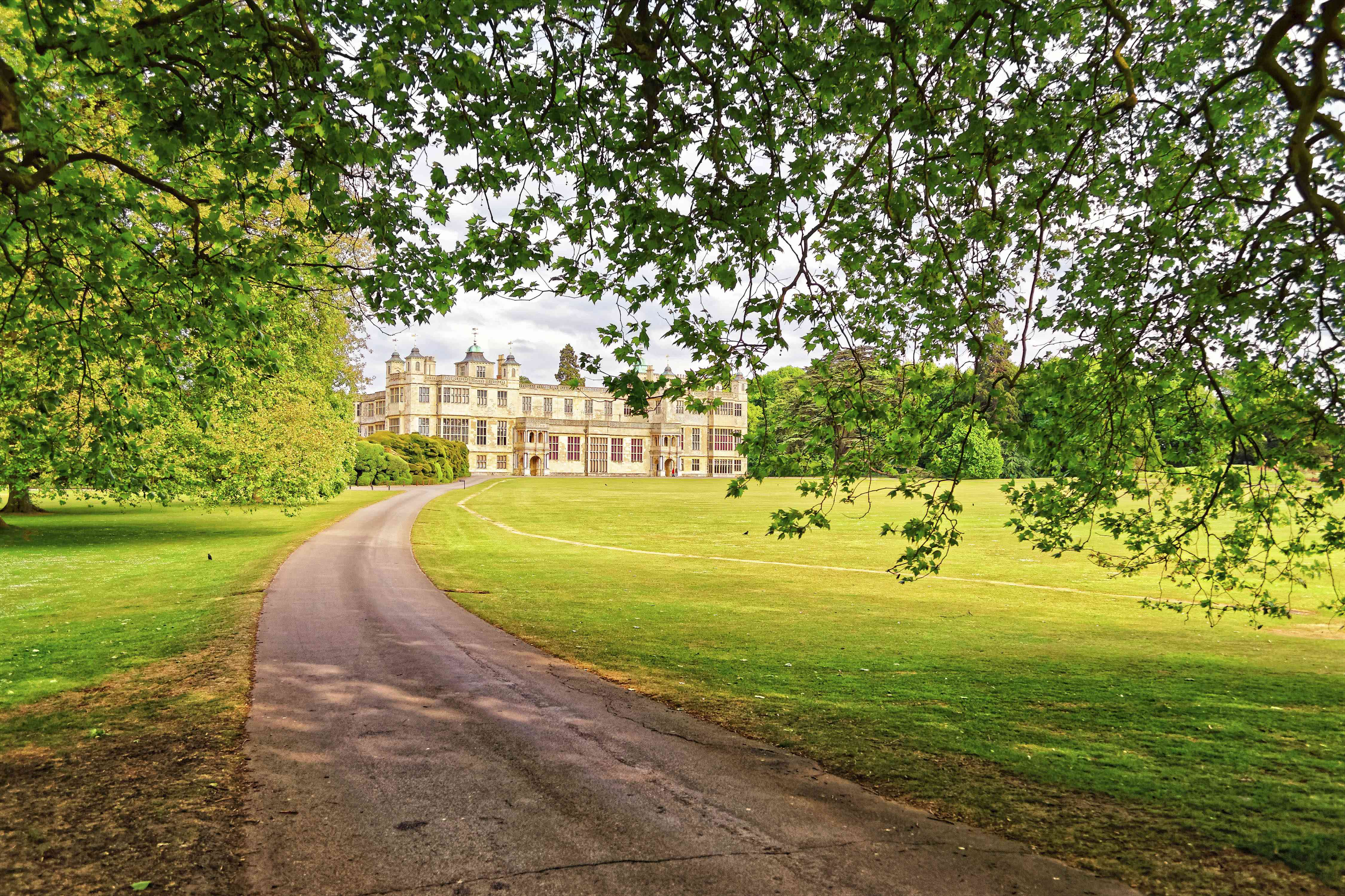 Path to Audley End House in Essex in England