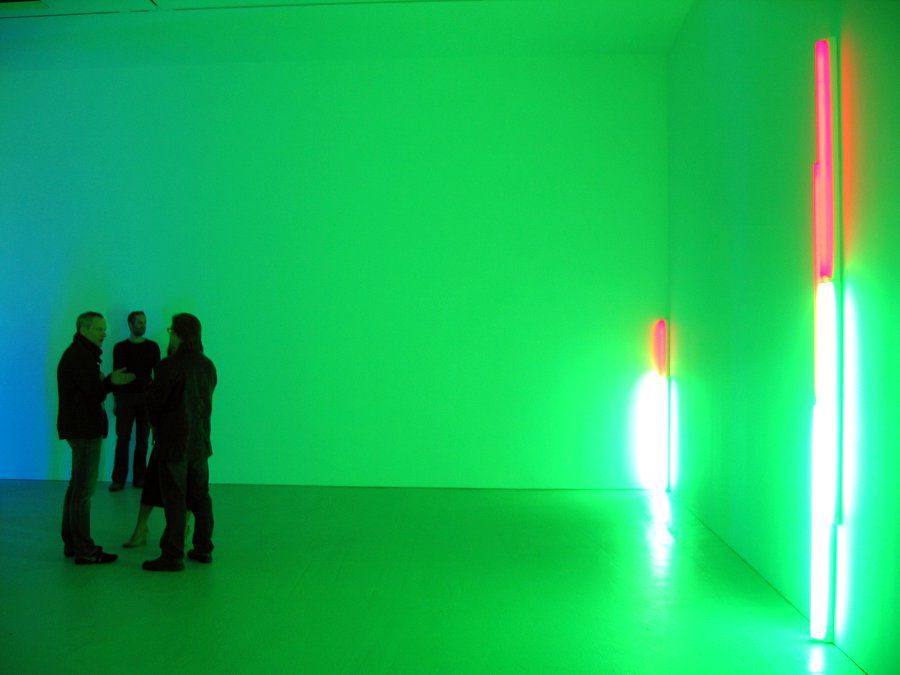 Dan Flavin installation at David Zwirner gallery in New York, November 2009.