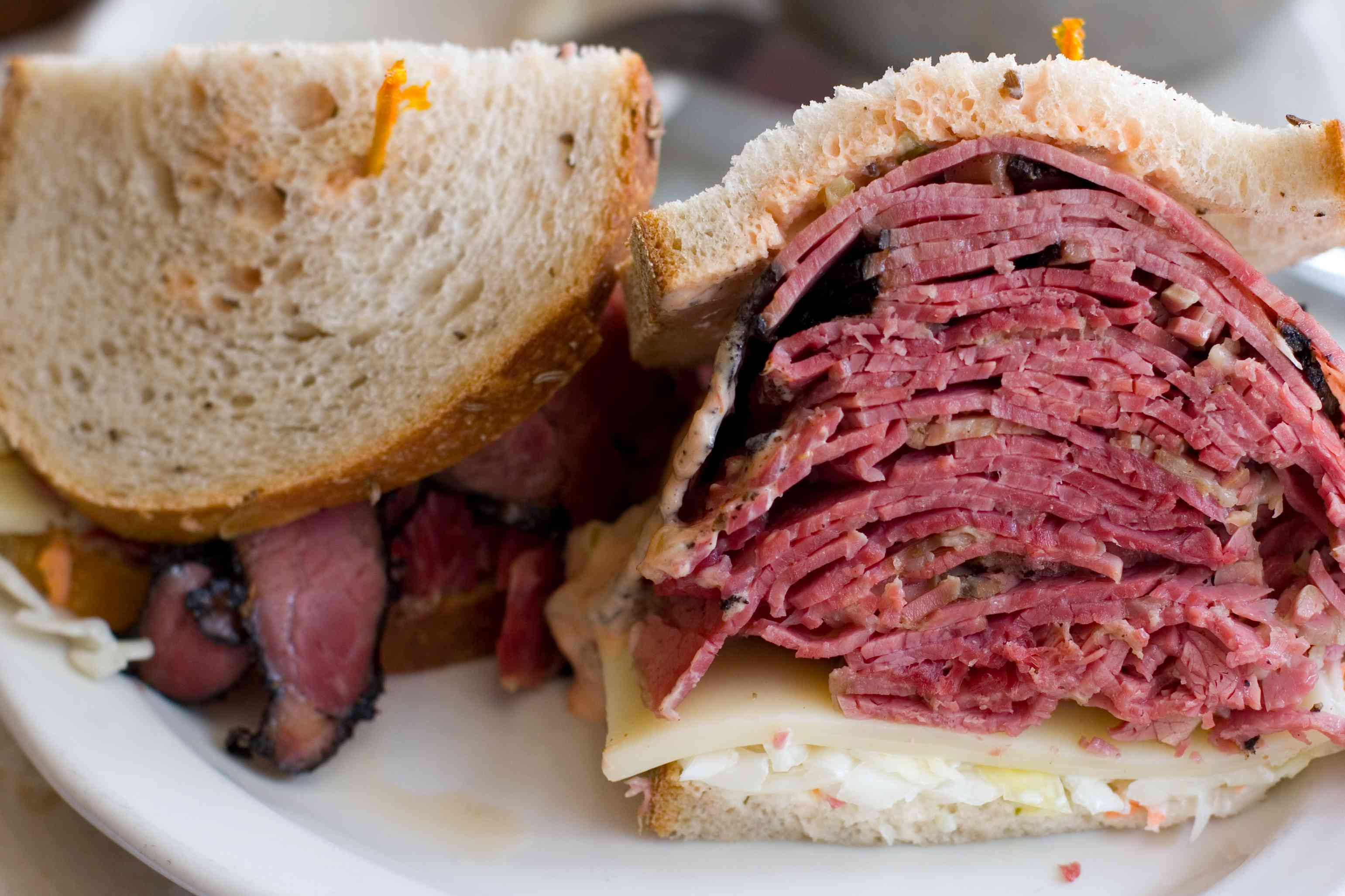 Corned beef and pastrami at Artie's Deli, Upper West Side