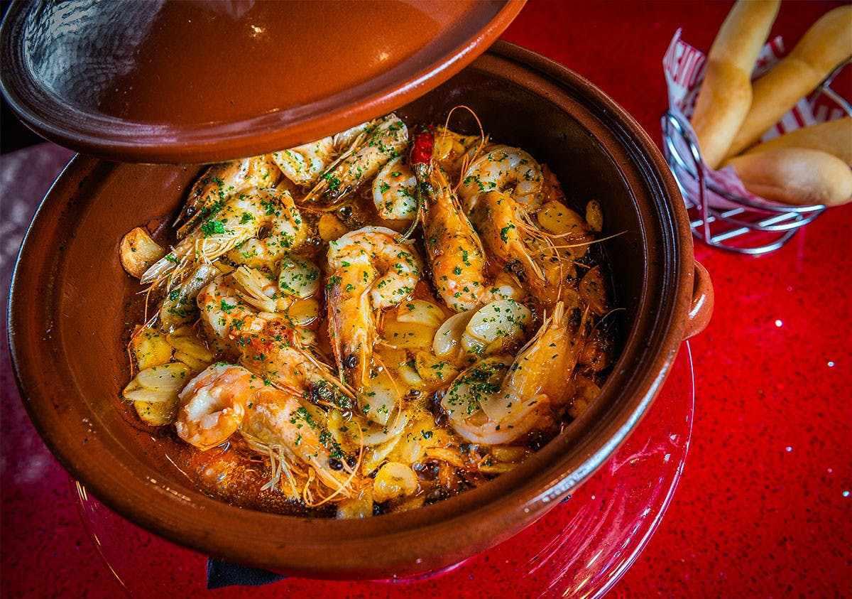 Jaleo by José Andrés Disney Springs shrimp dish