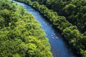 Rafting at the Lehigh River near by Jim Thorp (Mauch Chunk), Carbon County, Poconos region, Pennsylvania