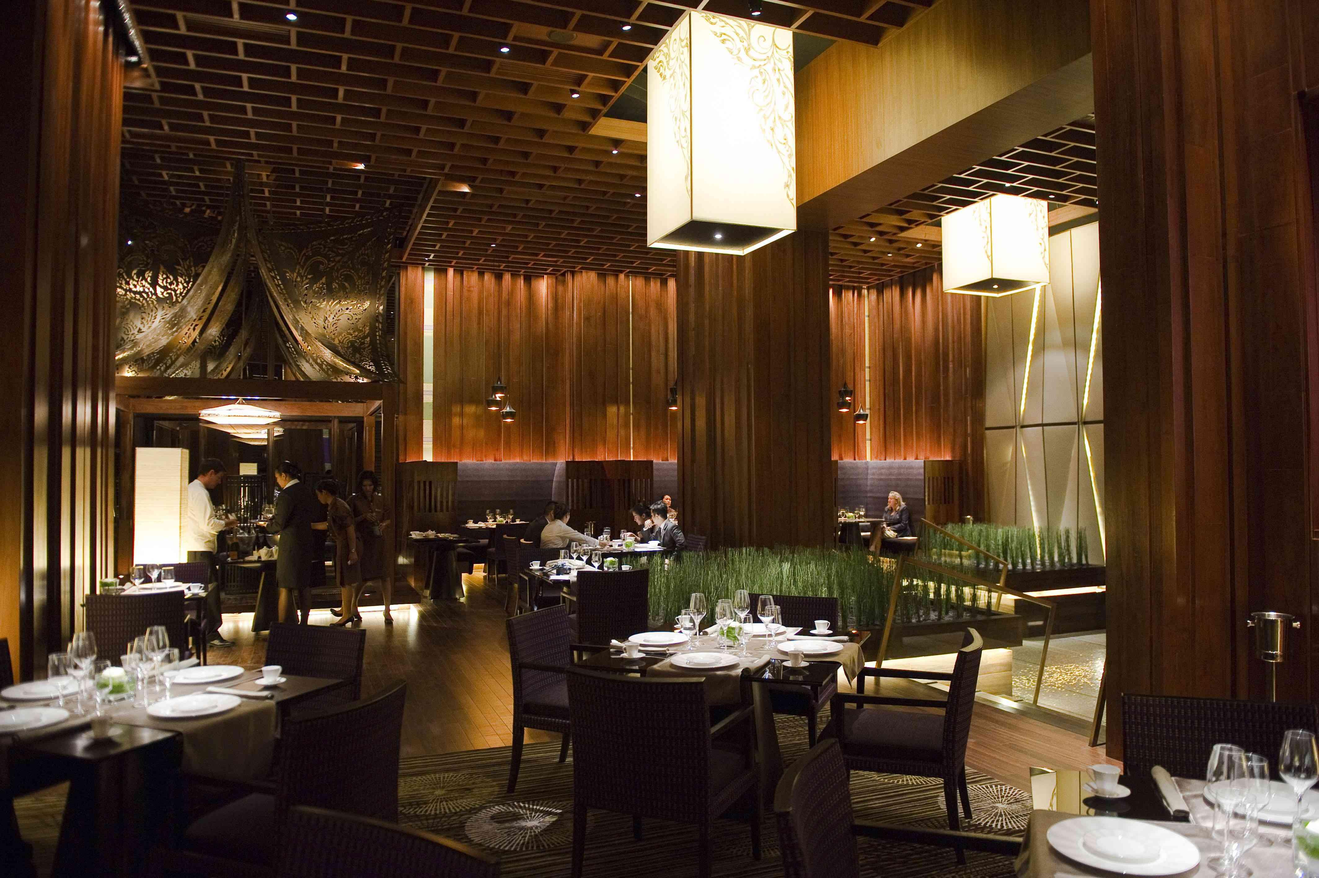 The inside of Sra Bua, a top restaurant in Bangkok