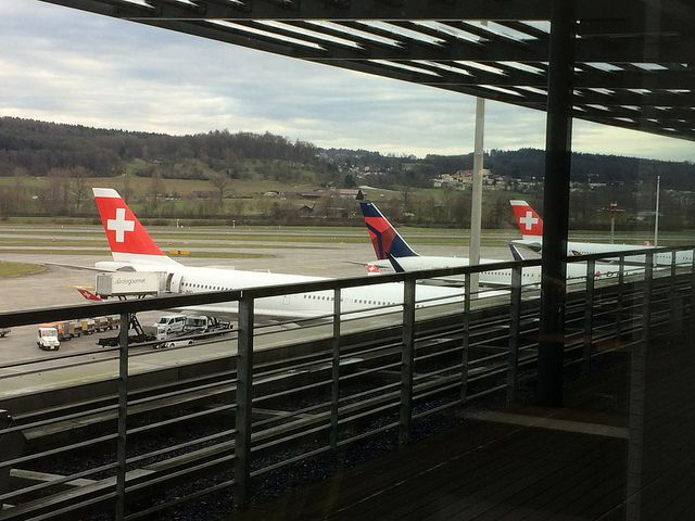 The Aspire Lounge at Zurich Airport.