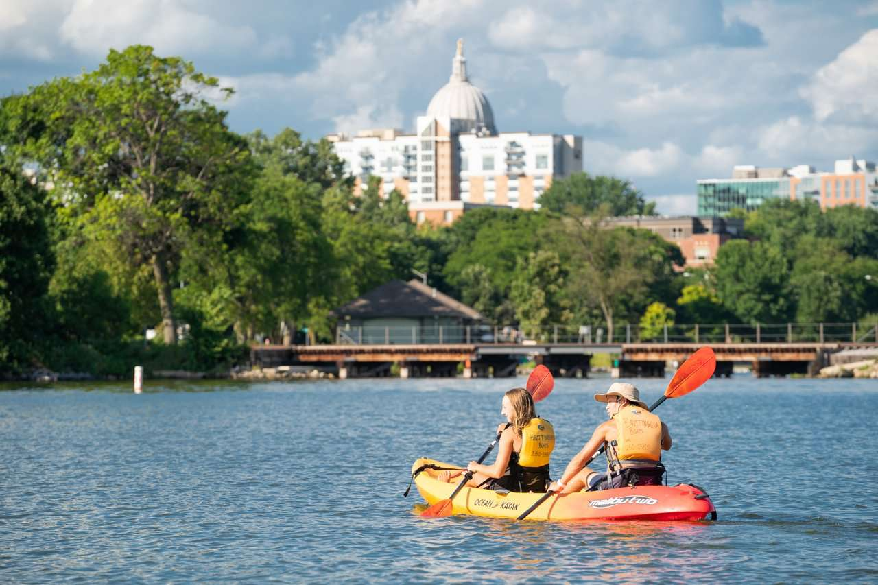 Exploring the lakes of Madison Wisconsin.
