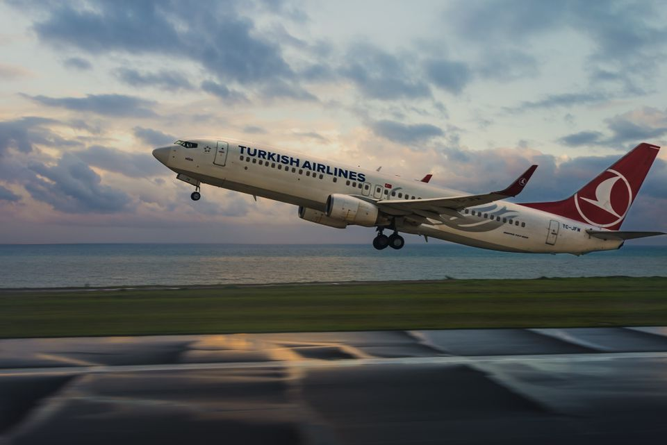 Turkish Airlines Airplane Landing