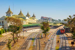 Yangon Central Railway Station. Myanmar