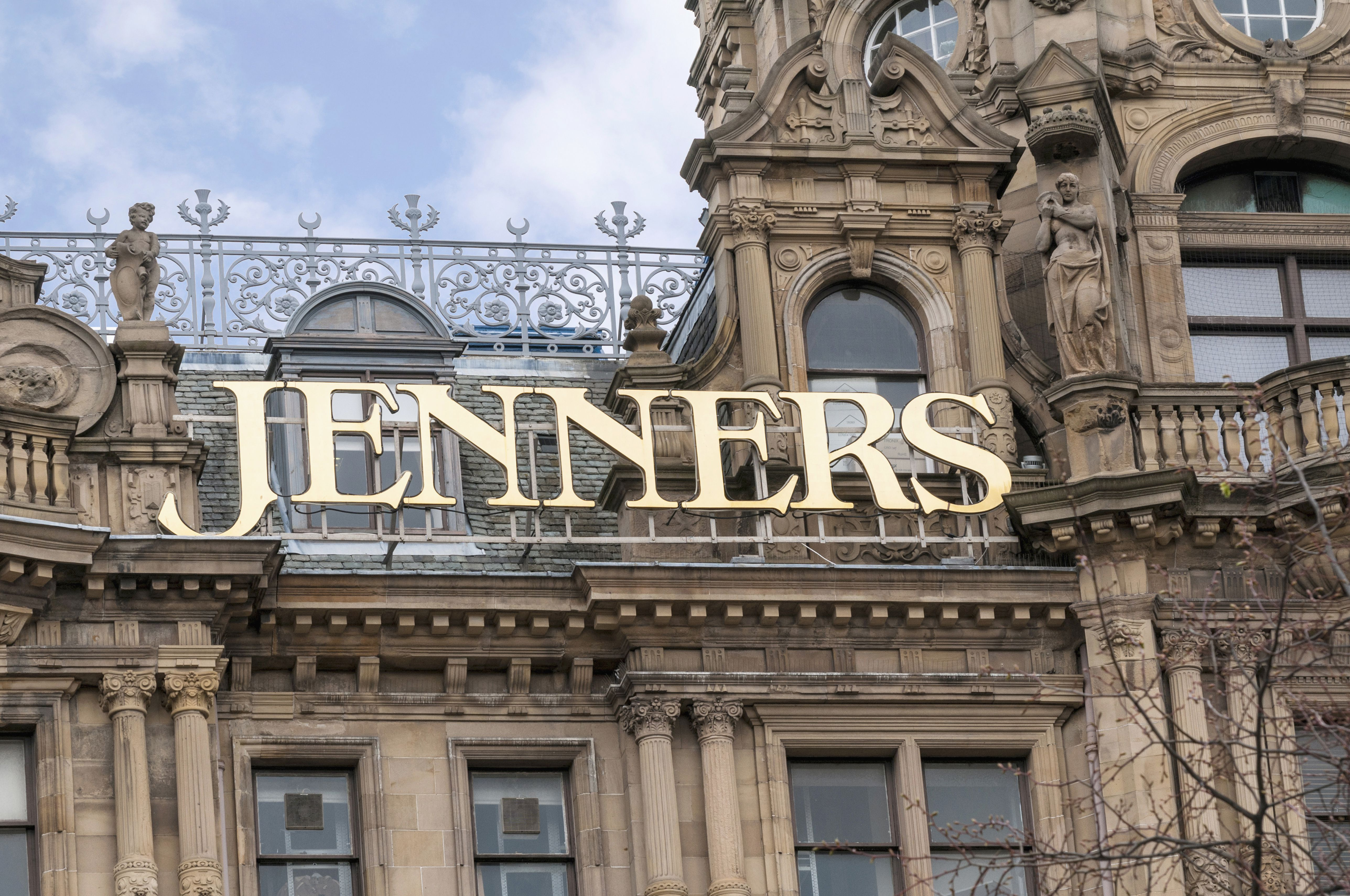 Jenners department store sign, Edinburgh, Scotland, UK also known as House of Fraser
