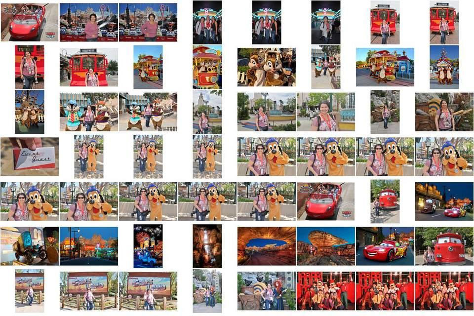 Disney PhotoPass Contact Sheet