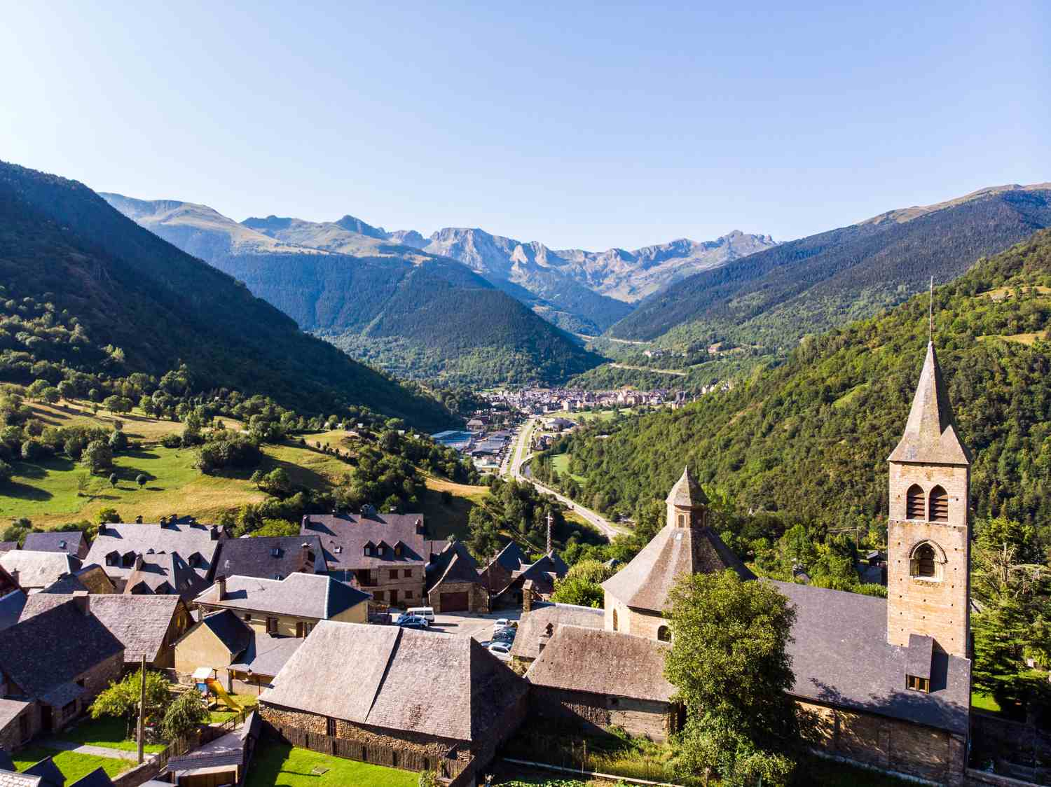 Village in the Catalan Pyrenees, Spain