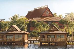 Exterior of Disney's polynesian villa