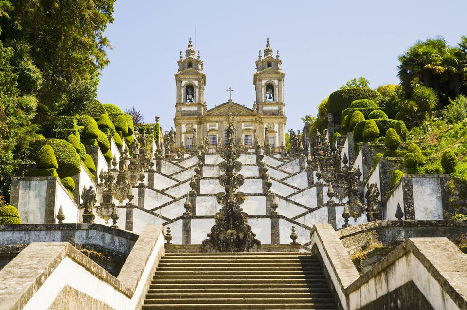 Staircase at Bom Jesus do Monte Sanctuary