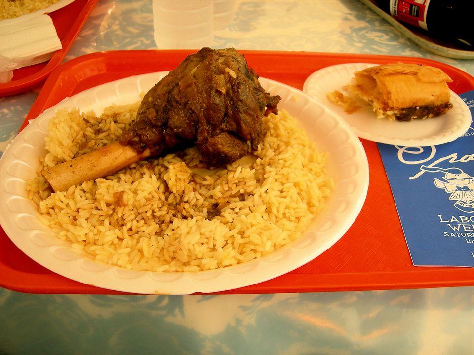 Food at St. Nicholas Greek Festival in St. Louis