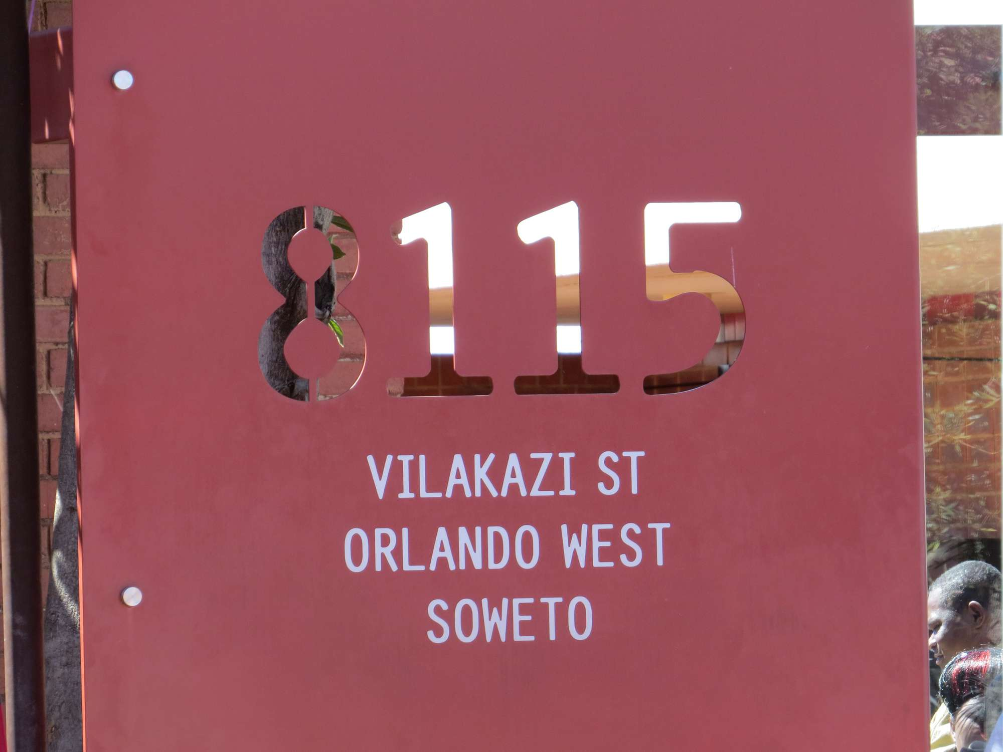 Sign outside Nelson Mandela's house on Vilakazi Street, Soweto