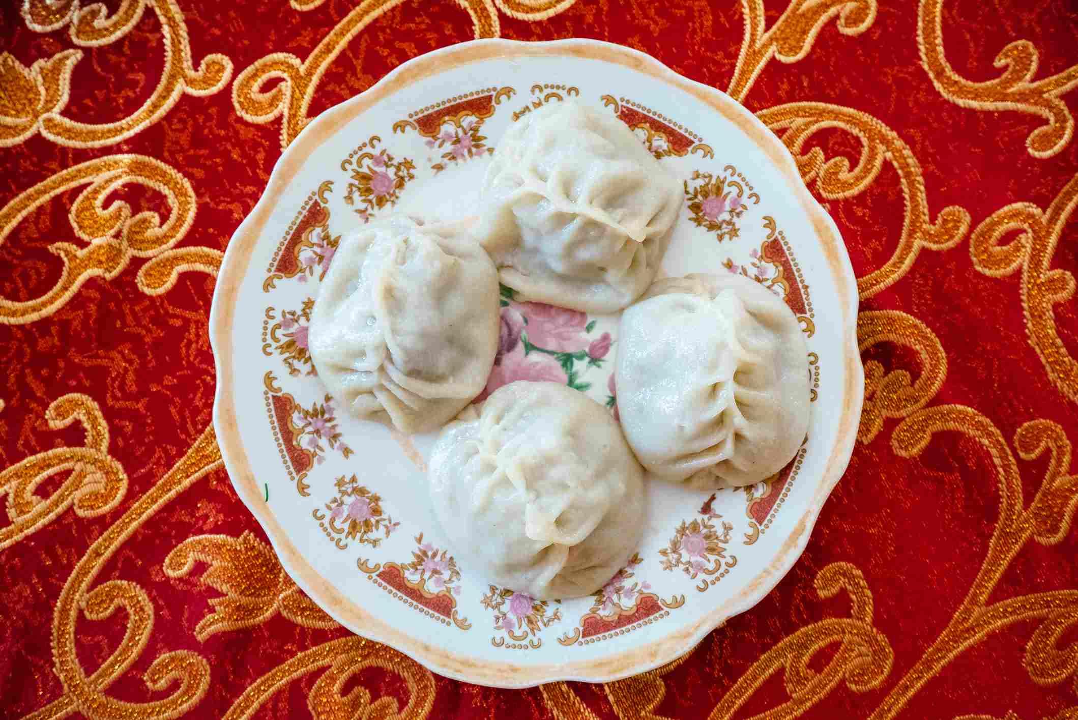 Pozy or Buuz dumplings