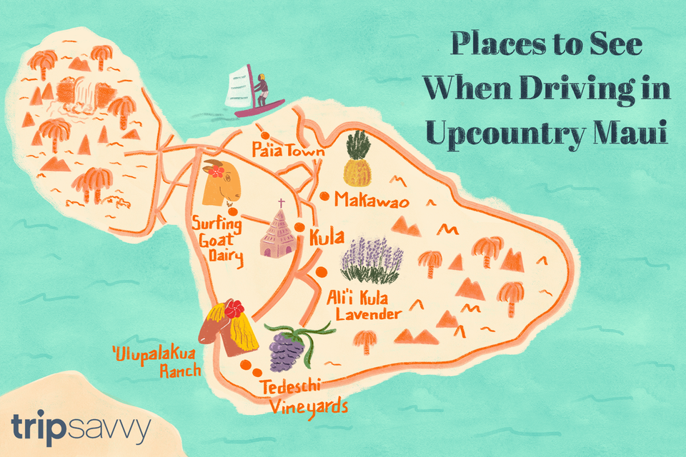Driving through upcountry Maui