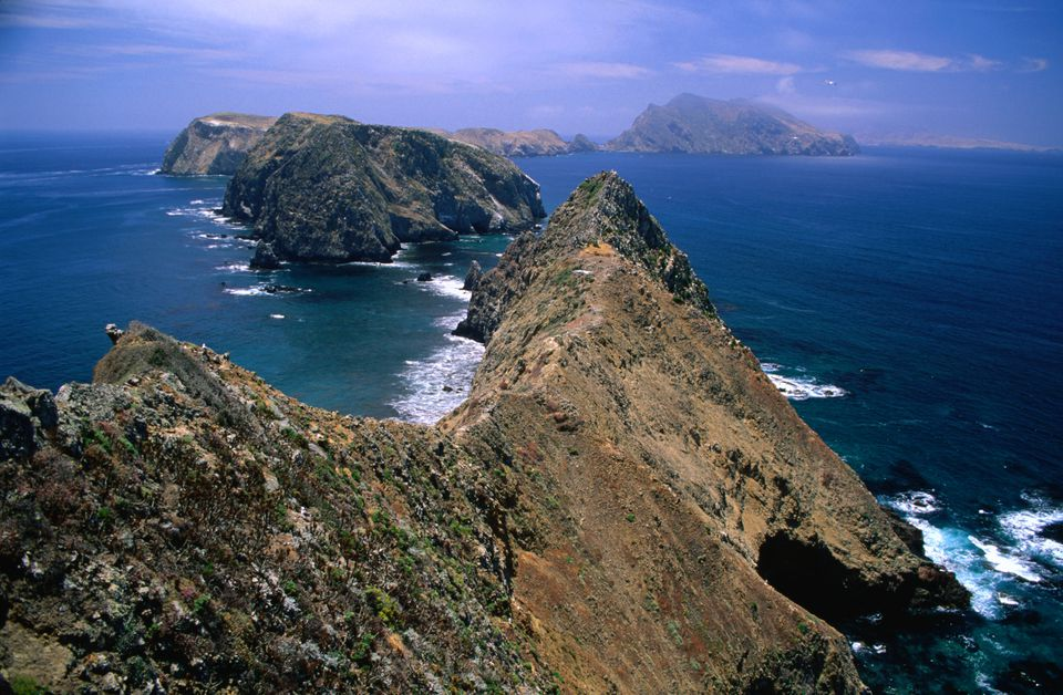 Looking west towards Anacapa Island and Inspiration Point in the Channel Islands National Park.