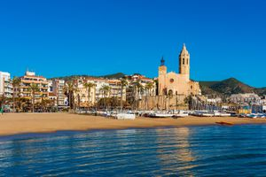 View on Sitges Spain