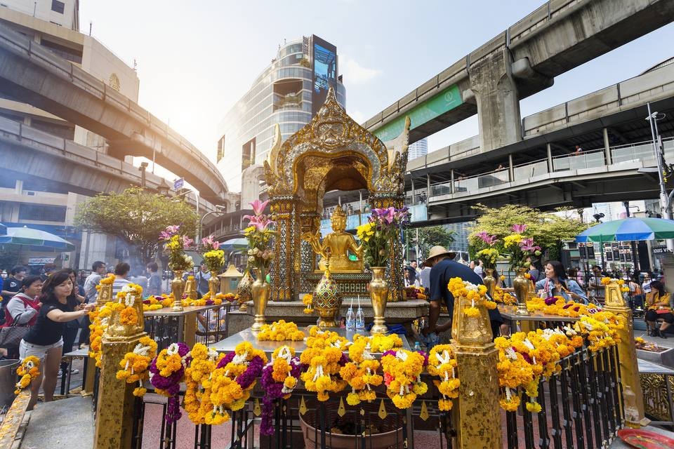 Erawan Shrine, Siam Square district.