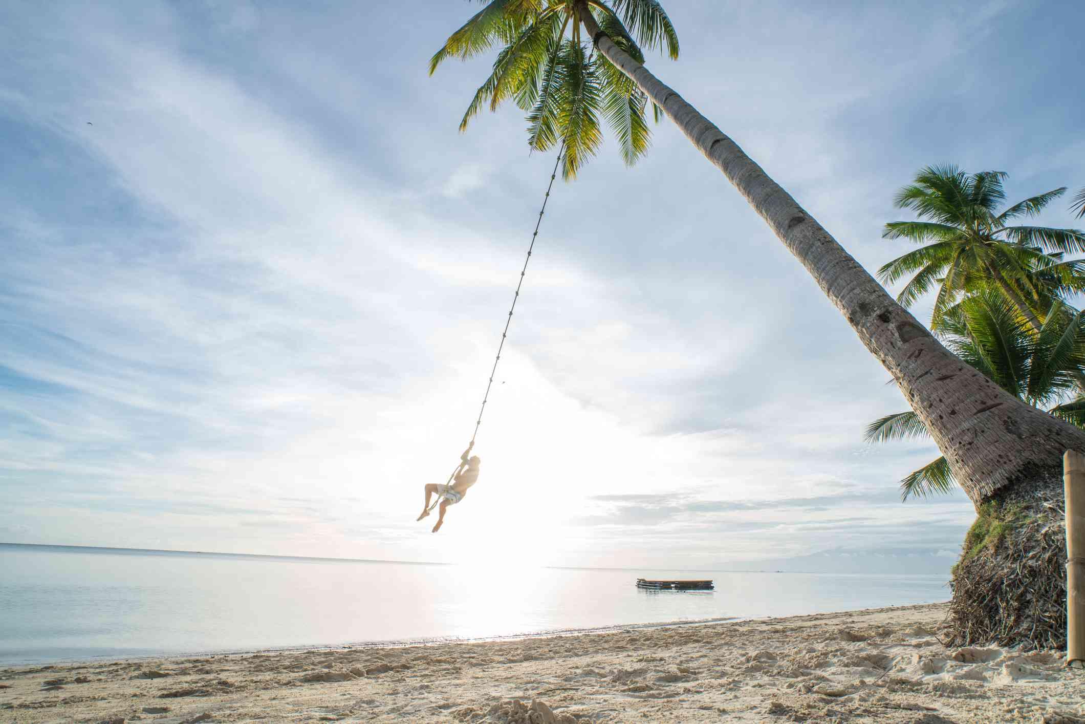 Beach swing on Siquijor Island