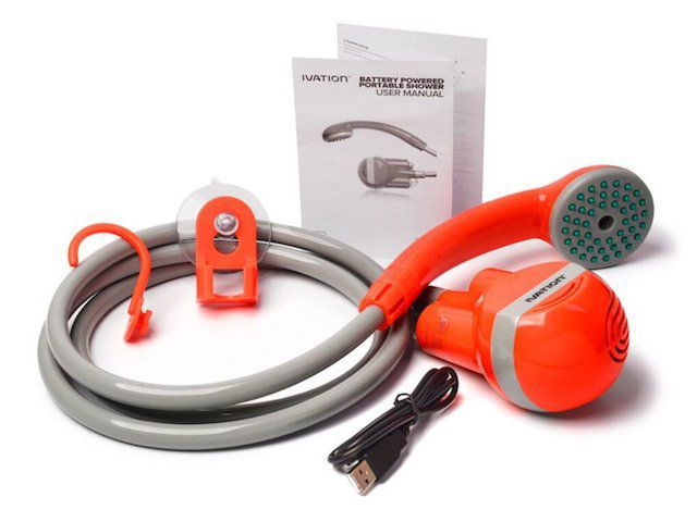 Portable Outdoor Shower Water Pump Rechargeable Nozzle Set Battery-Powered 2019