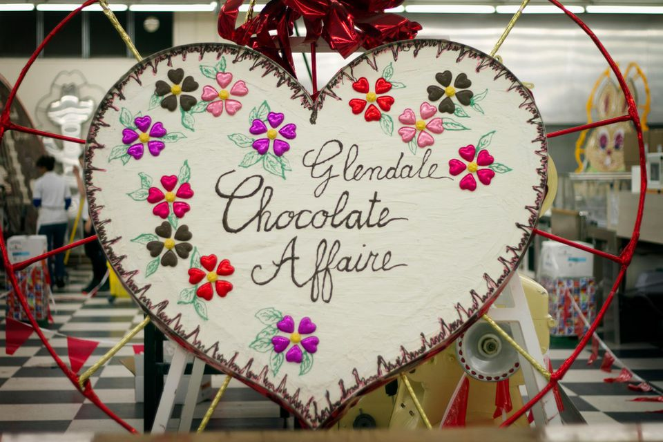 A chocolate design from a previous Glendale Chocolate Affaire