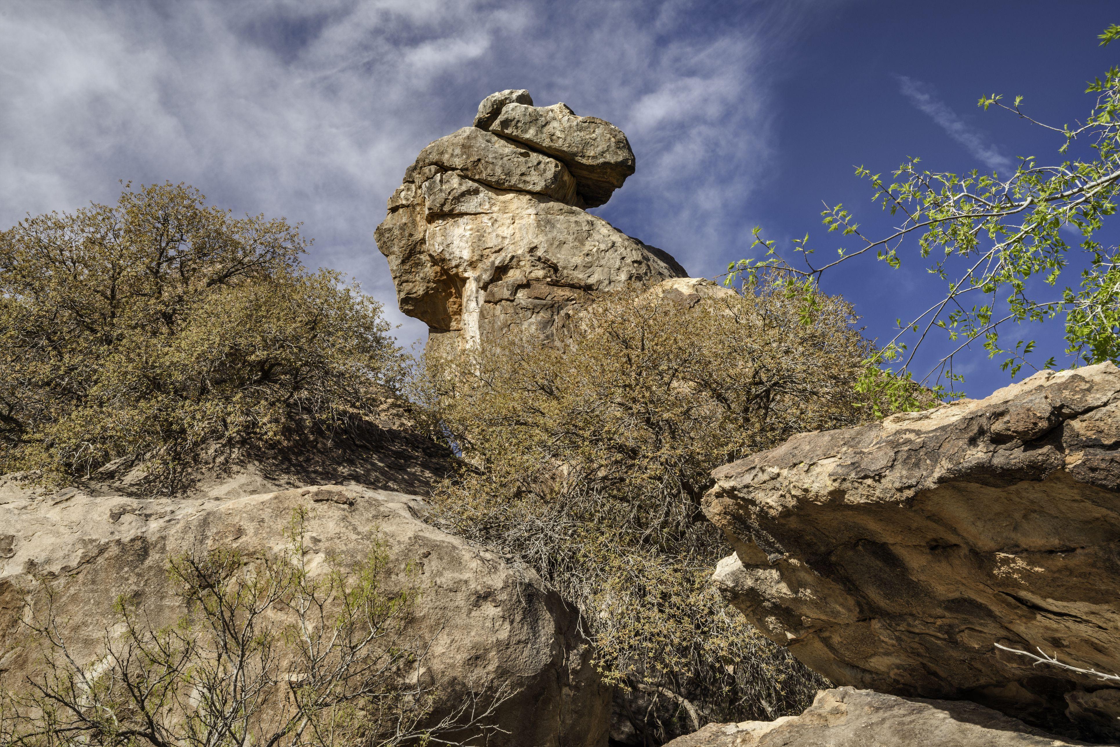 Hueco Tanks State Park, cerca de El Paso, Texas, EE. UU.