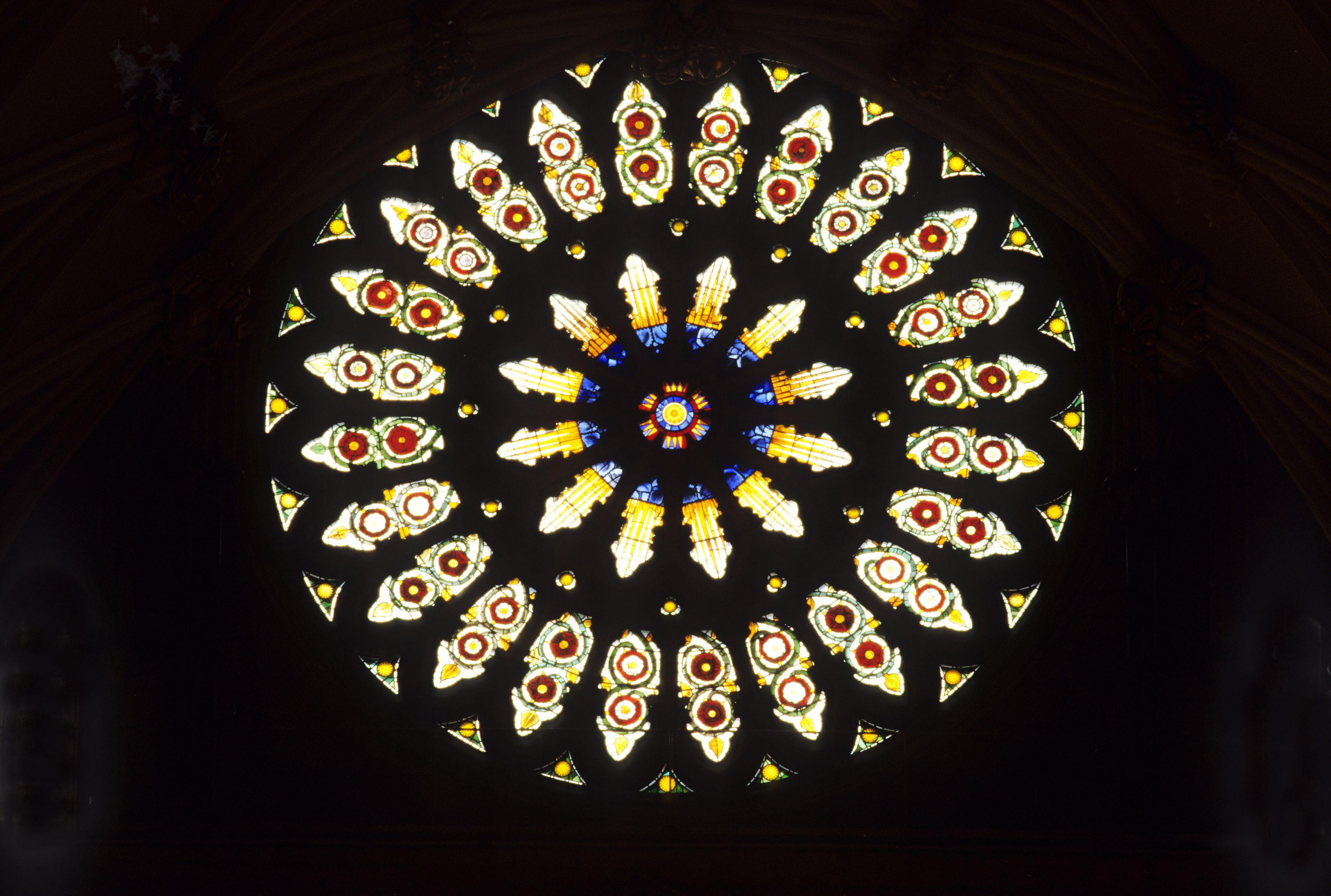 York Minster, south transept rose window, restored