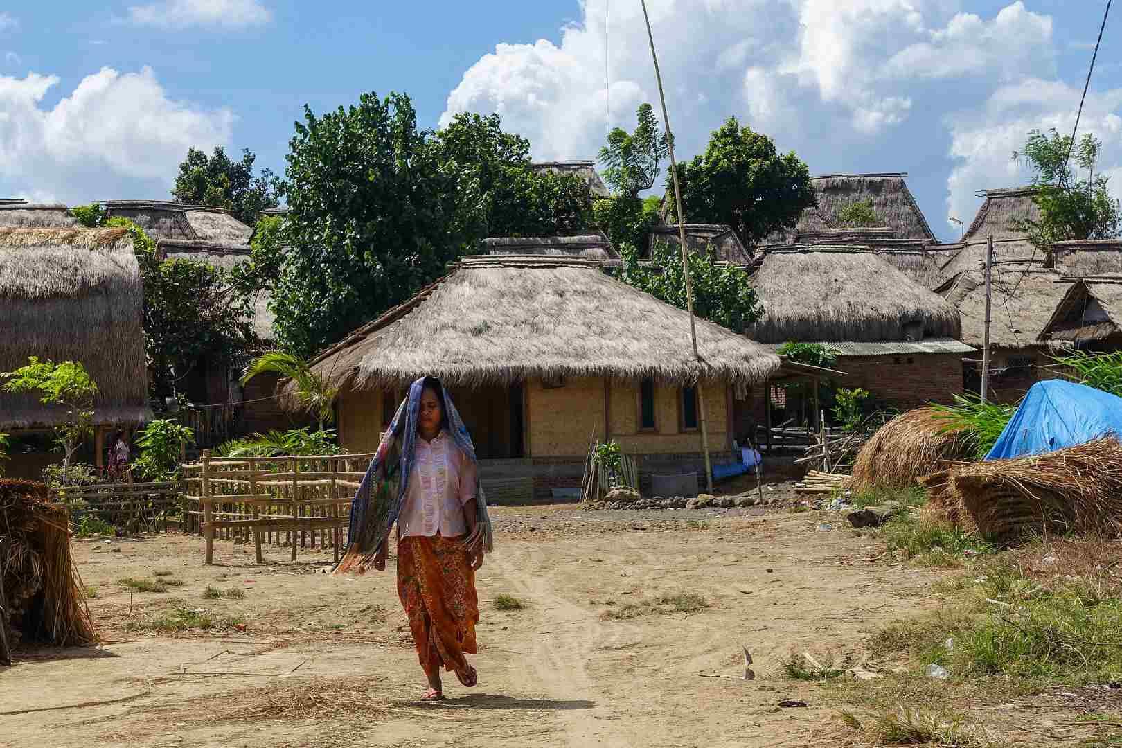 Exterior of Sasak Sade Village, Lombok, Indonesia
