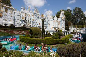 it's a small world ride at Disneyland