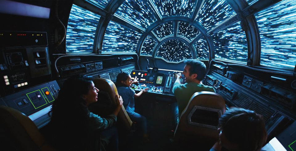 Millennium Falcon Disney parks ride cockpit