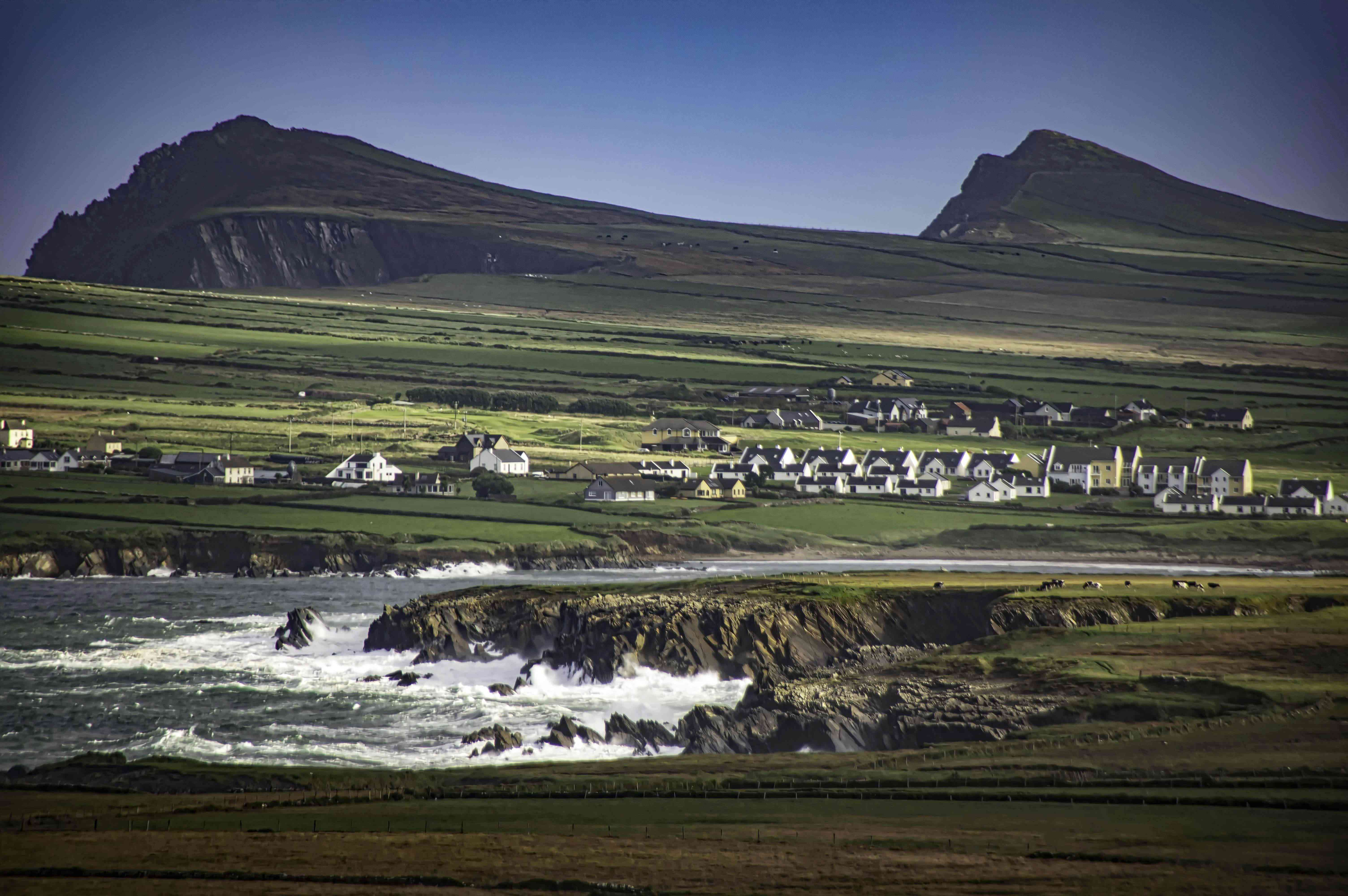 Houses along the coast of the Beara Peninsula