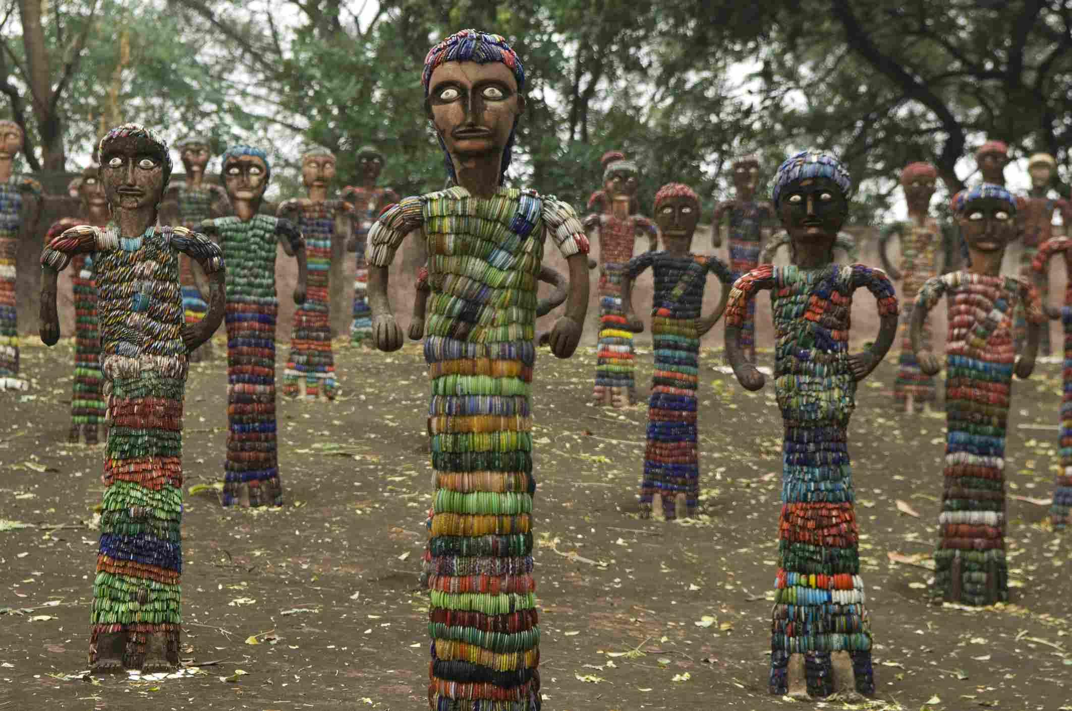 Statues in Nek Chand's Rock Garden, Chandigarh.