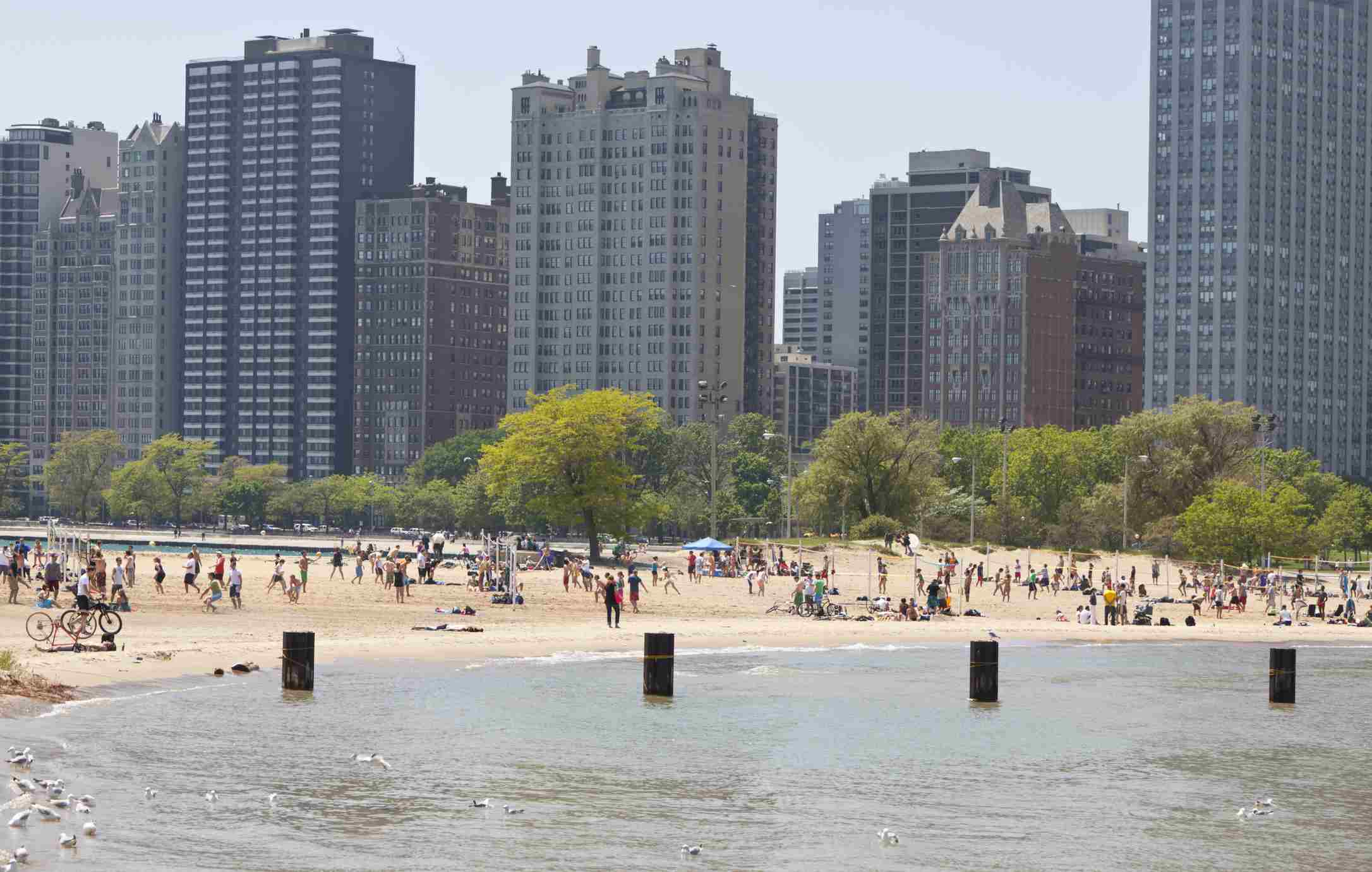 Beach in Downtown Chicago