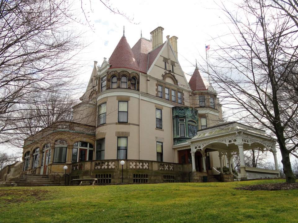 Frick Mansion just looks like the place to be haunted by a ghost, and it doesn't disappoint.