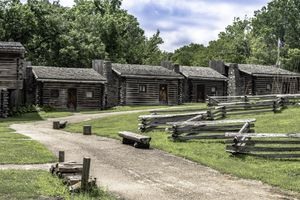 Cabins at Fort Boonesborough State Park in Kentucky