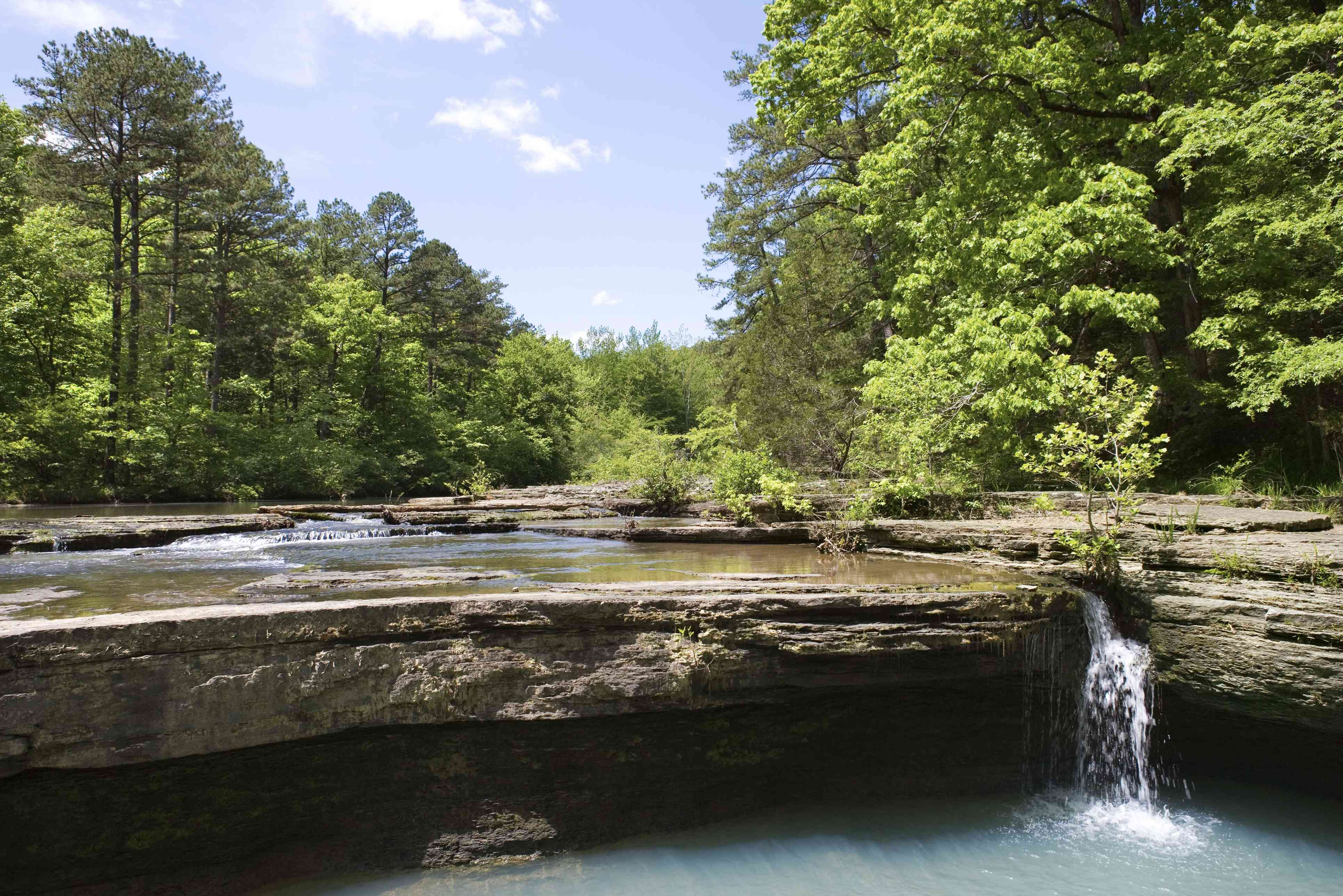 Haw Creek Falls in the Ozark National Forest