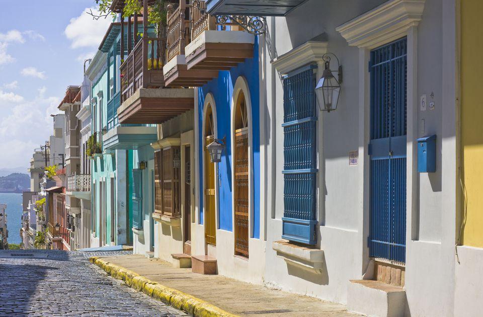 San Justo Street in Old San Juan, Puerto Rico