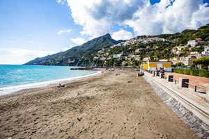 Beaches of Vietri Sul Mare in Amalfi, Italy