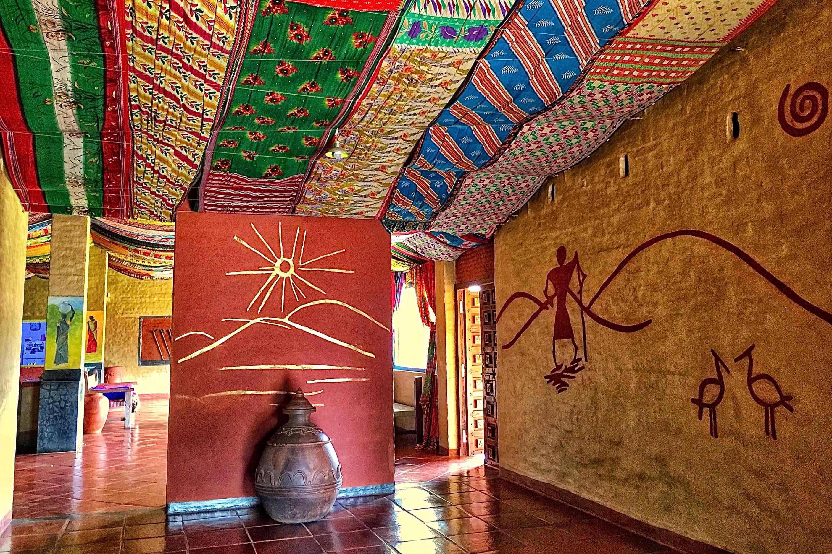 Chandoori Sai Guesthouse interior.