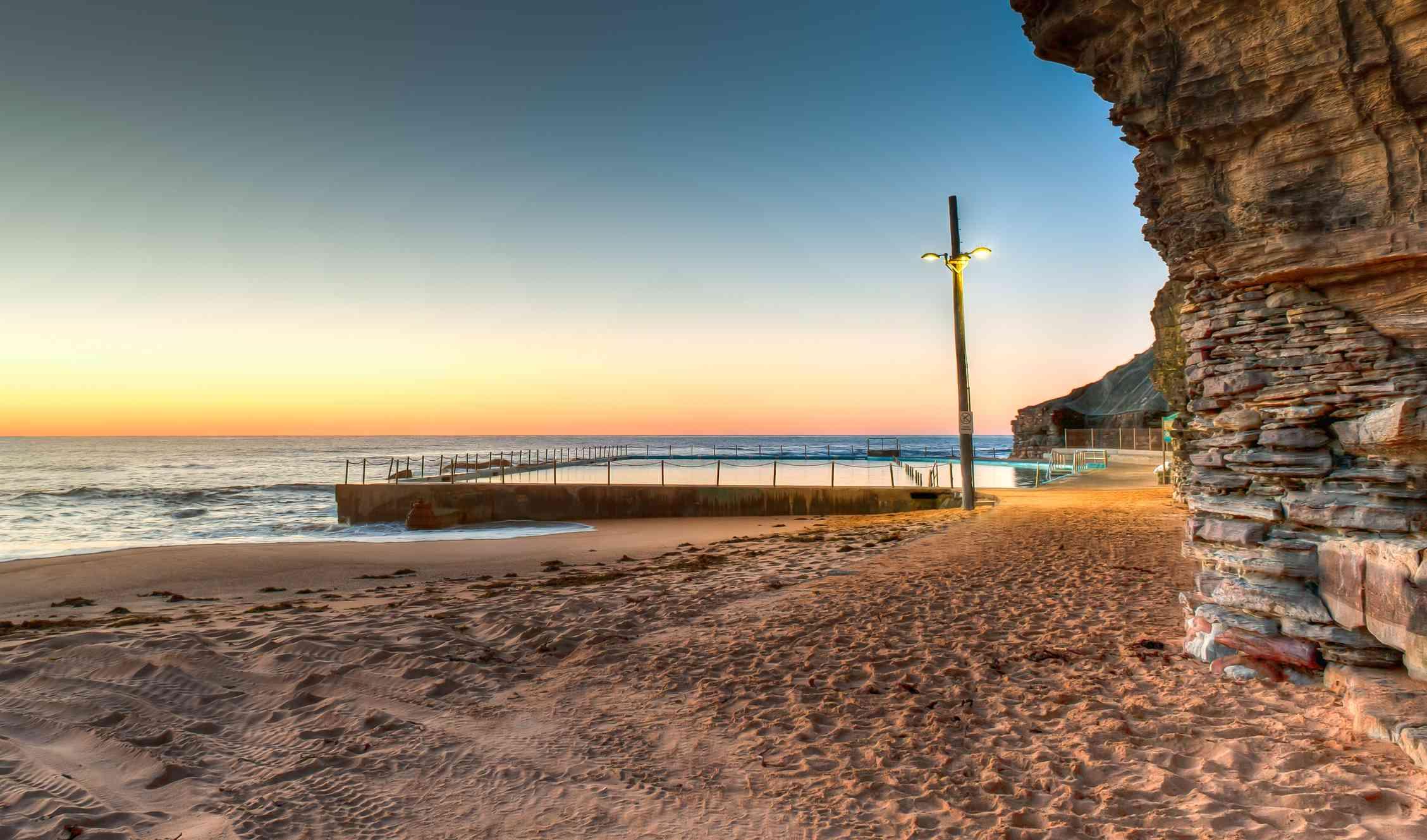 Bilgola Beach at sunrise